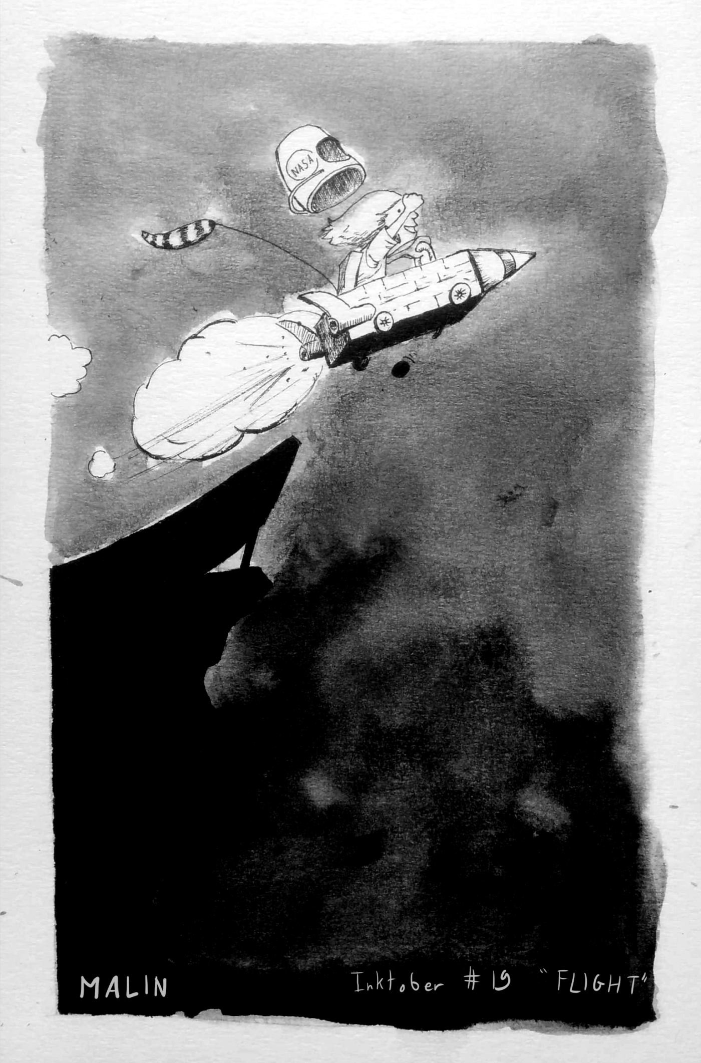inktober-19-flight