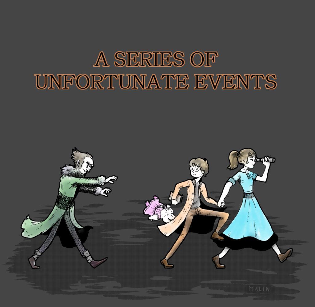 Les orphelins Baudelaire pourchassés par le comte Olaf