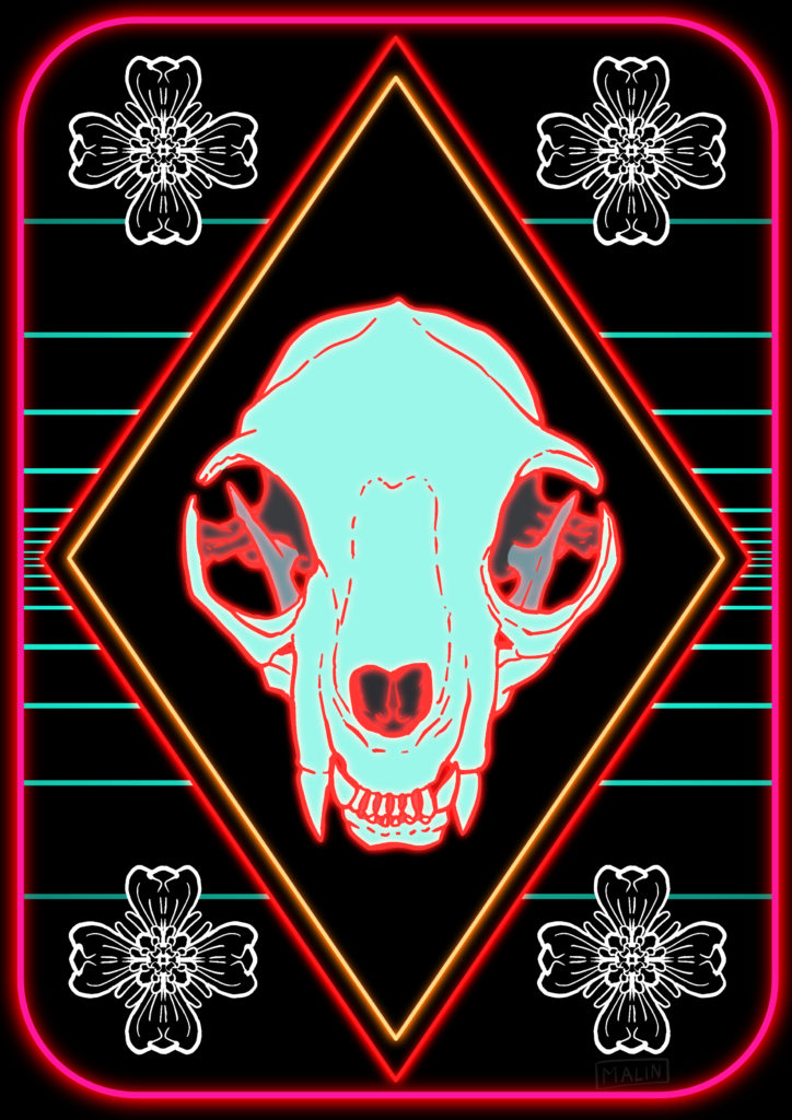 sythwave cat skull